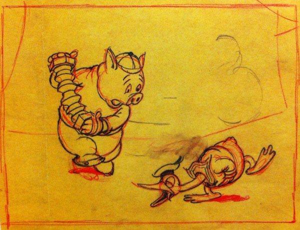 Artwork petite poule avisée donald Wise Little Hen disney
