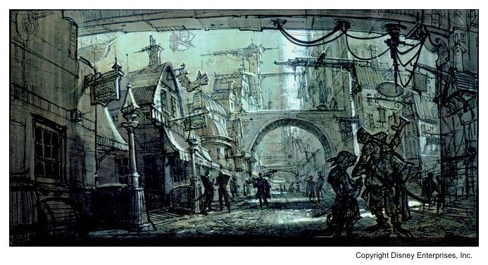 Artwork Concept art La planète au trésor : un nouvel univers Disney Treasure Planet