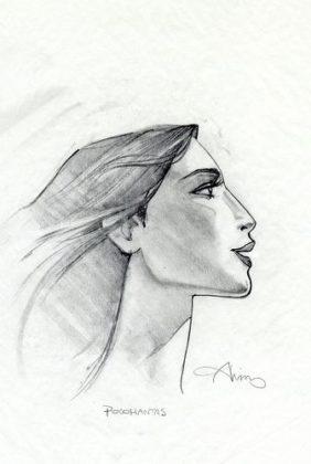 Artwork Concept art Pocahontas une légende indienne Disney