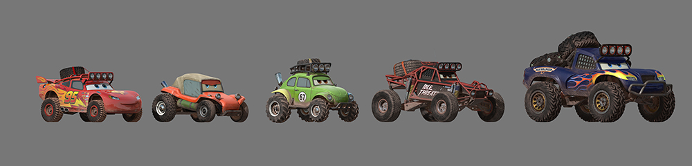 artwork radiator springs 500 Pixar Disney