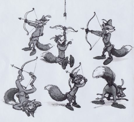 Concept art Artwork Robin des bois Disney Hood