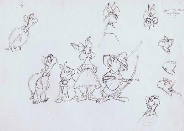 Concept art Artwork Robin des bois Disney Hood
