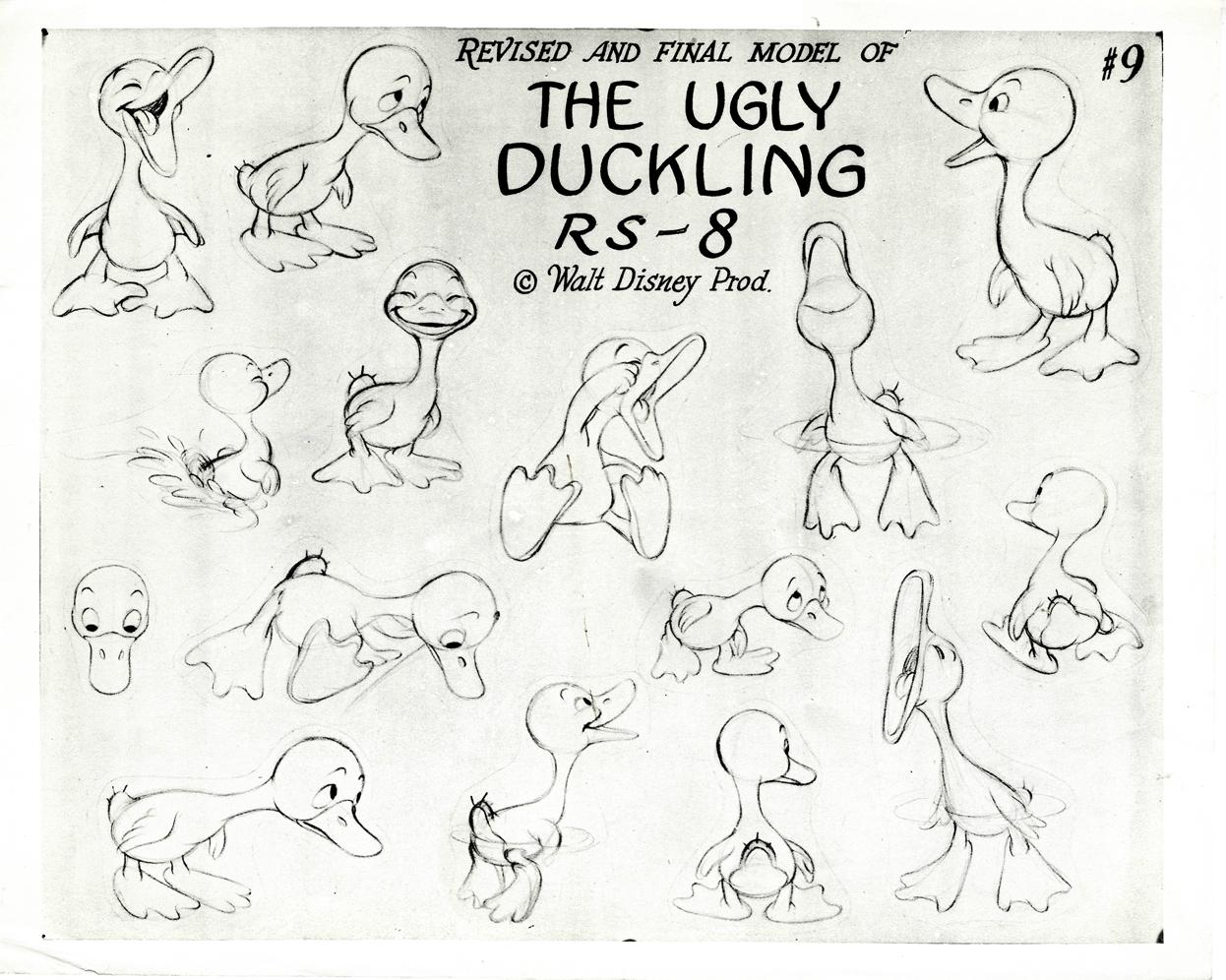 artwork vilain petit canard ugly duckling disney silly symphony