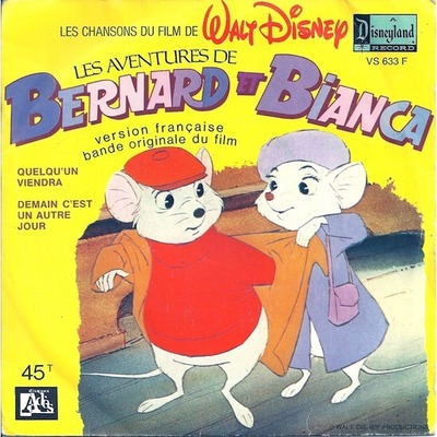 bernard bianca aventures Disney bande originale soundtrack album rescuers