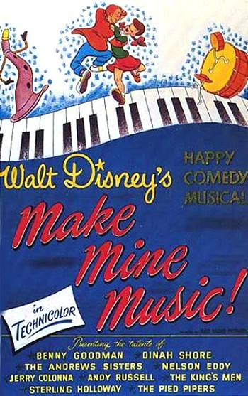 boite musique Disney bande originale soundtrack album make mine music