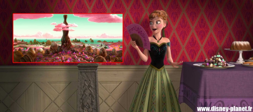 clin oeil reine neige easter egg walt disney animation frozen