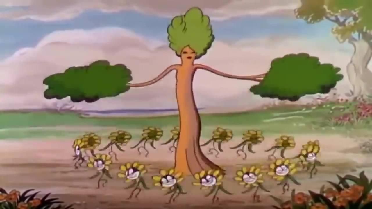 image flowers trees arbres fleurs disney silly symphony