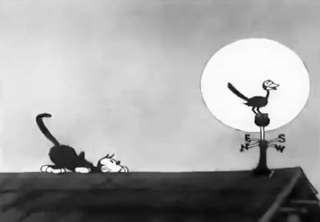 image cat out nightmare disney silly symphony