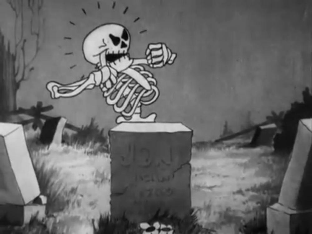 image danse macabre skeleton dance disney silly symphony