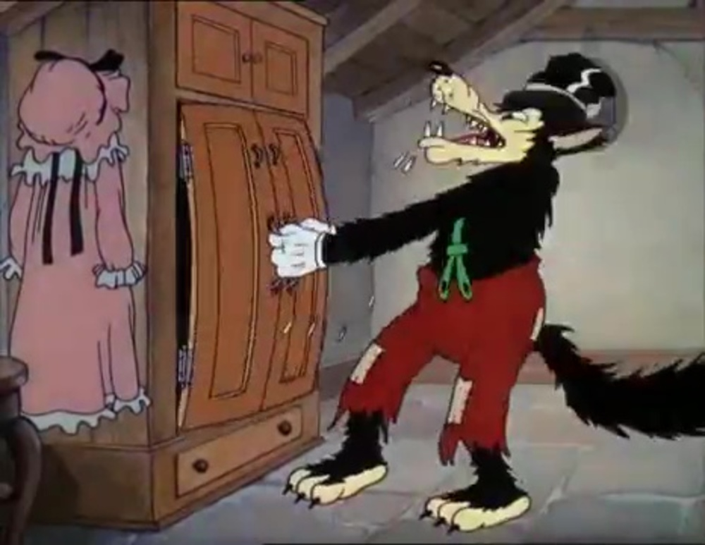 image grand méchant loup big bad wolf disney silly symphony