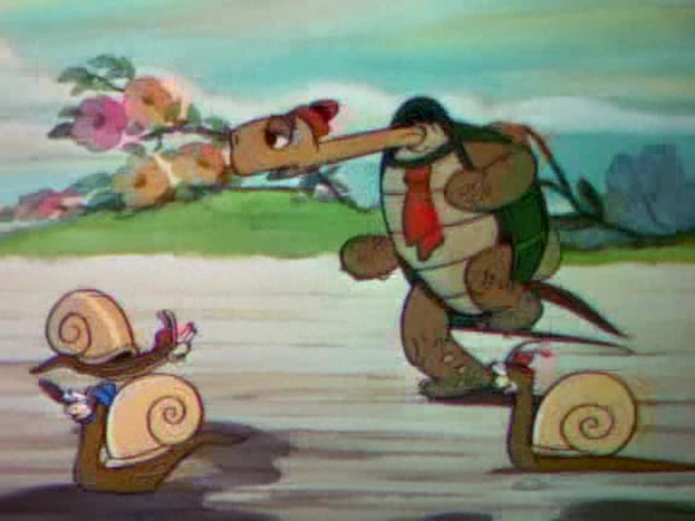 image lièvre tortue tortoise hare disney silly symphony