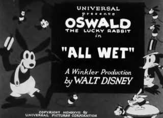 affiche poster all wet oswald disney