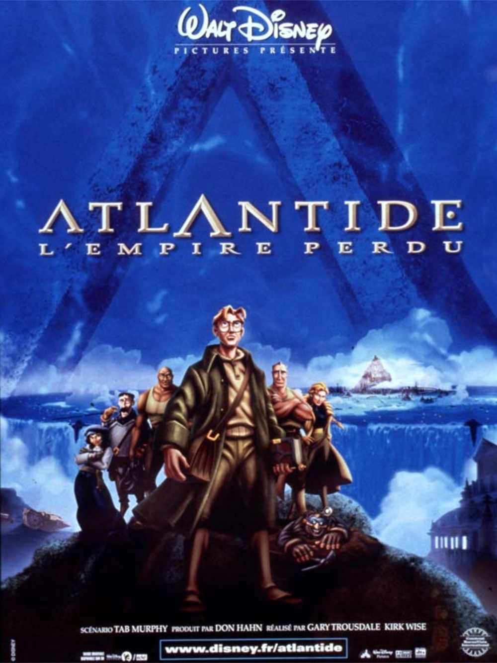 Affiche Atlantide l'empire perdu Disney Poster Atlantis lost empire