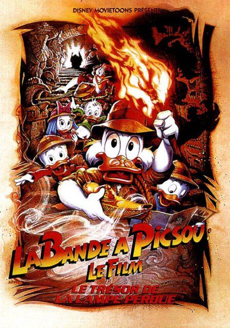 Affiche Poster bande piscou ducktales trésor lampe perdue treasure lost lamp disney disneytoon