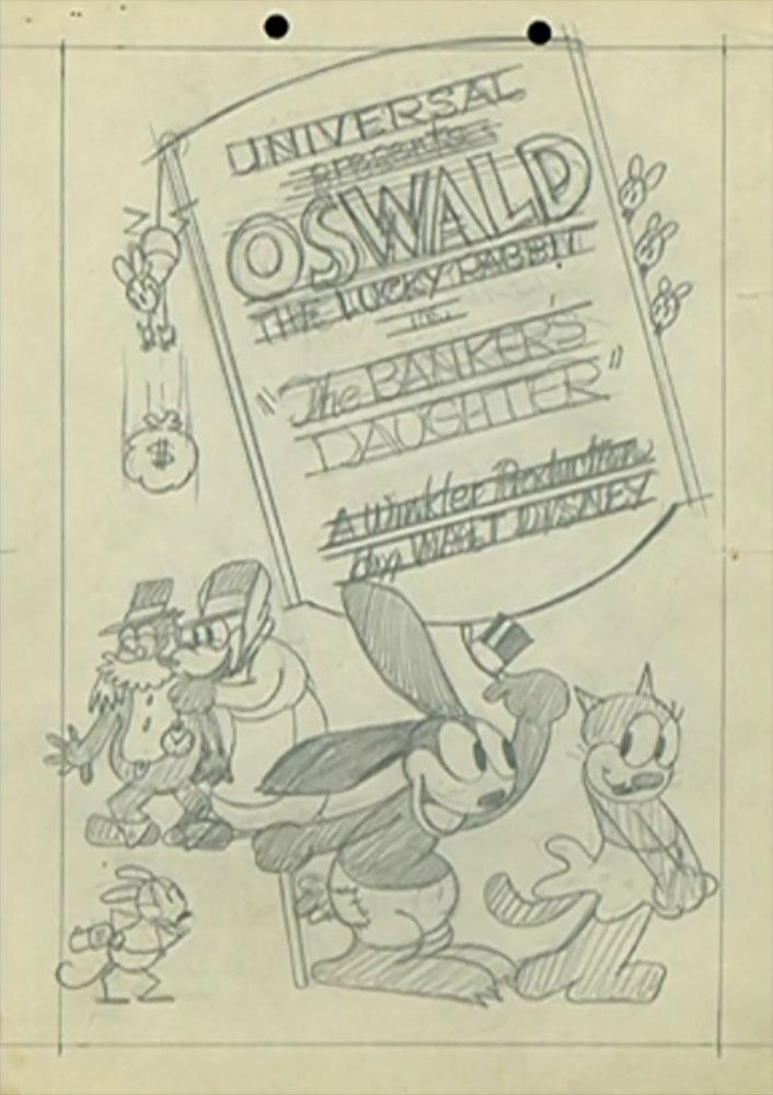 affiche poster banker daughter disney oswald