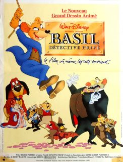 Affiche Basil, détective privé Disney Poster The great mouse