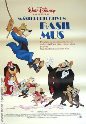 Affiche Basil, détective privé Disney Poster The great mouse