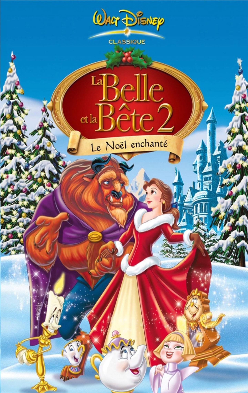 Affiche Poster belle bête 2 noël enchanté enchanted christmas disney disneytoon