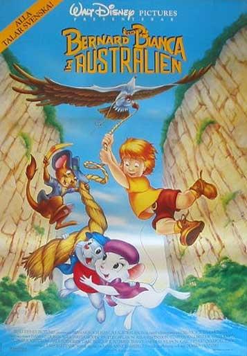 Affiche Bernard et Bianca au pays des kangourous Disney Poster The rescuers down under