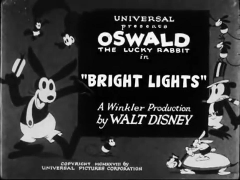 affiche poster bright lights oswald disney