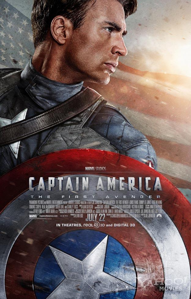 affiche captain america walt disney company marvel studios the first avengers