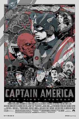 Affiche Poster Captain America First Avenger Disney marvel