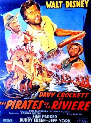 Affiche Poster davy crockett pirate rivière river disney