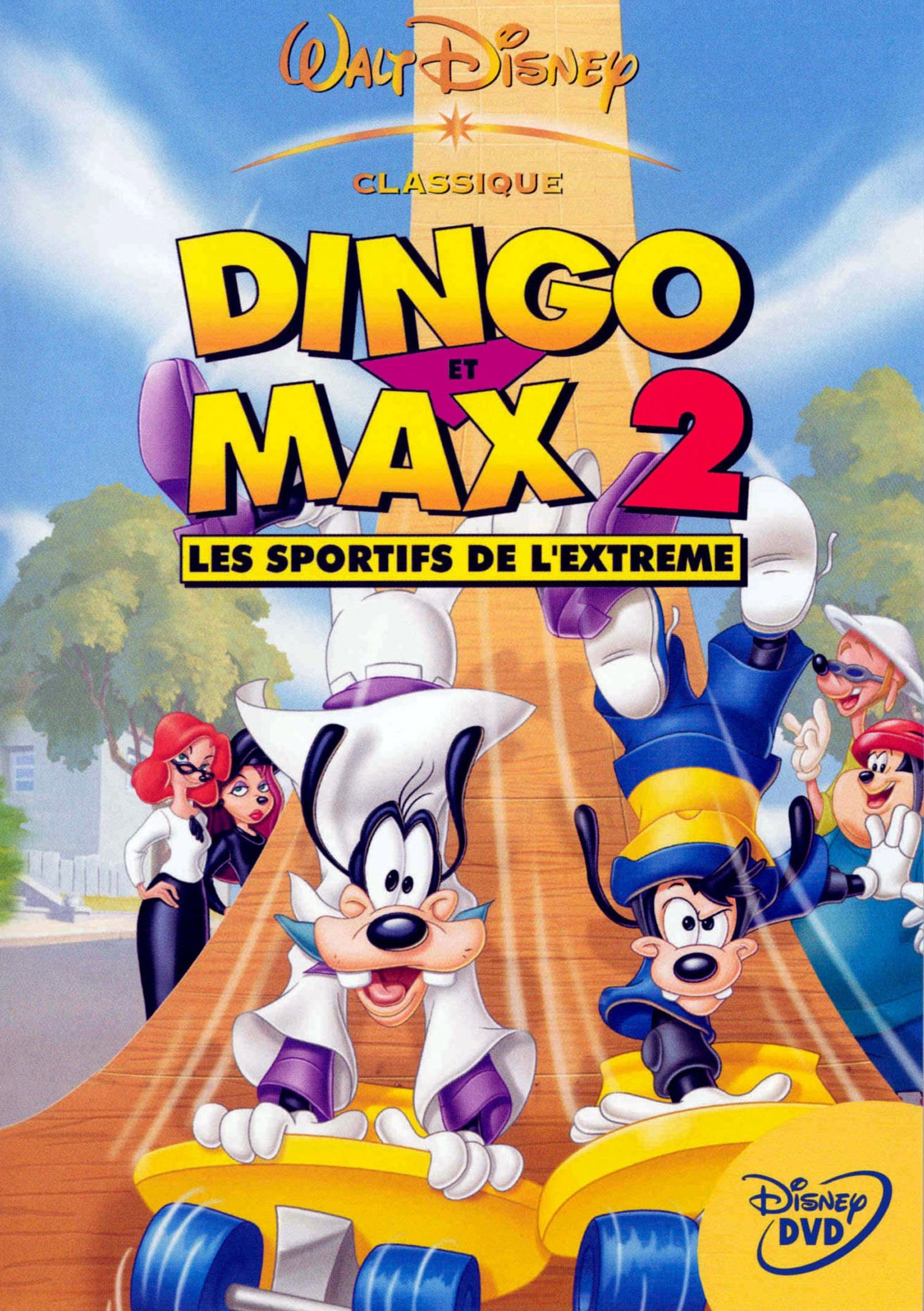 affiche poster dingo max 2 sportifs extreme goofy disney