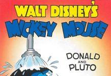 Affiche Poster donald pluto disney