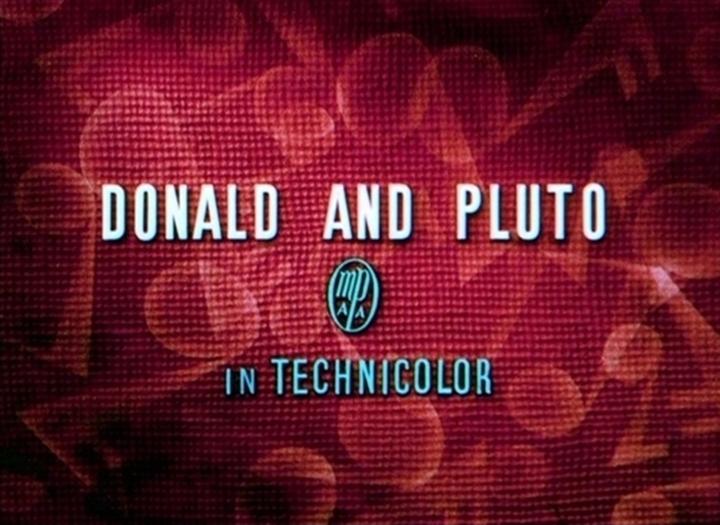 affiche donald pluto walt disney animation studios poster