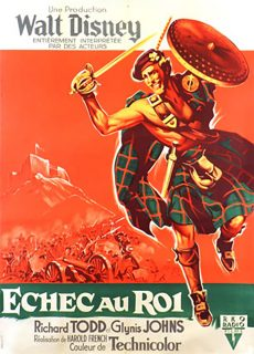 Affiche Poster échec roi rob roy highland rogue disney