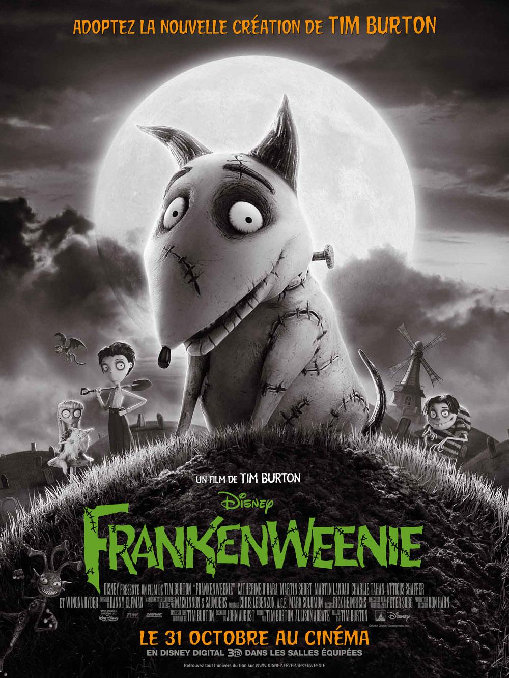 affiche frankenweenie walt disney pictures poster