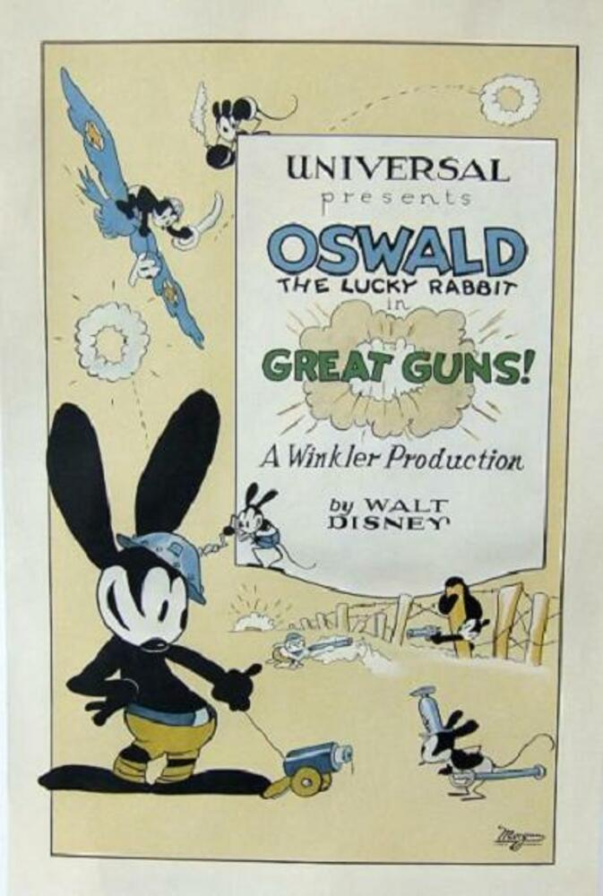 affiche poster great guns disney oswald