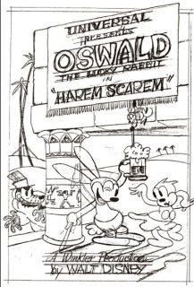affiche poster harem scarem disney oswald