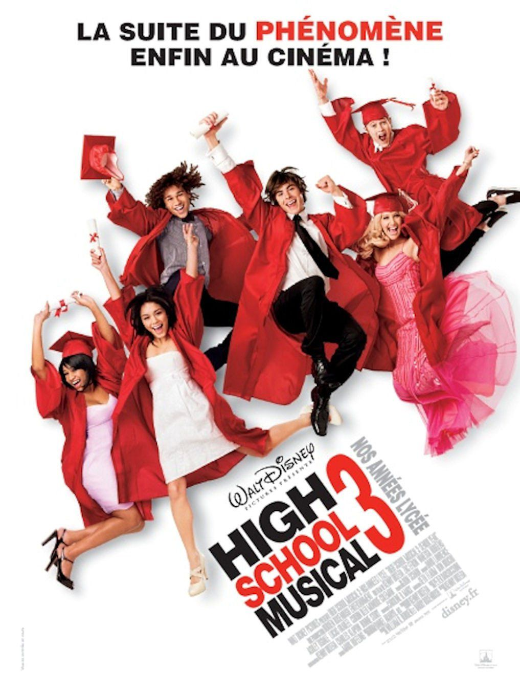 Affiche Poster high school musical 3 années lycée senior year disney