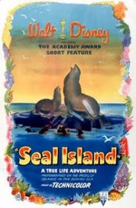 ile phoques seal island  true life adventures Walt Disney Pictures poster affiche
