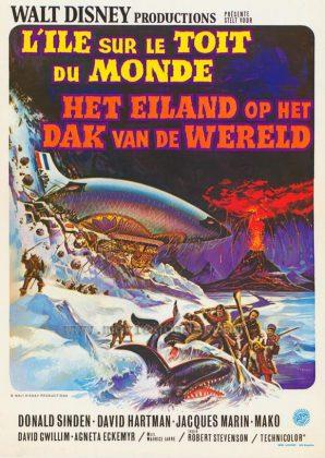 Affiche Poster île toit monde island top world disney