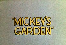 affiche jardin mickey walt disney animation studios poster mickey garden