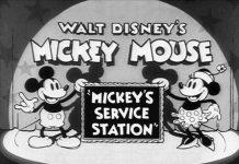 affiche joyeux mecaniciens walt disney animation studios poster mickey service station