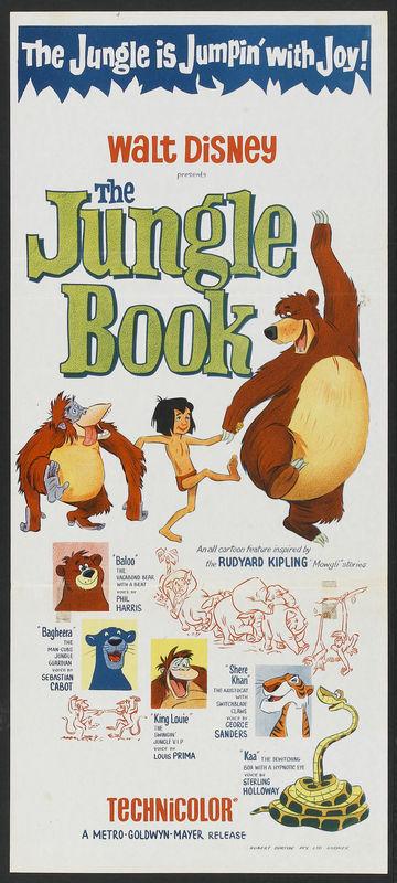 Affiche Le livre de la jungle Disney Poster The jungle book