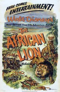 affiche poster african lion afrique disney true life