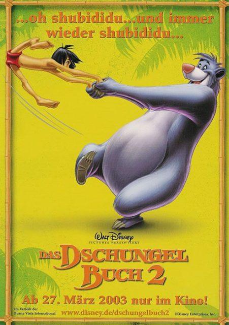 affiche poster livre jungle book 2 disney