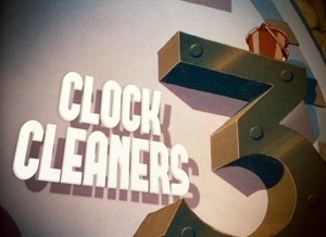 affiche mettoyeurs pendules walt disney animation studios poster  clock cleaners