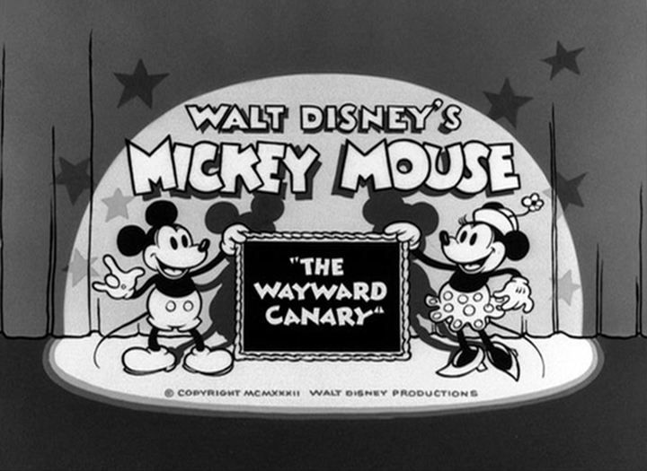affiche mickey canari walt disney animation studios poster wayward canary