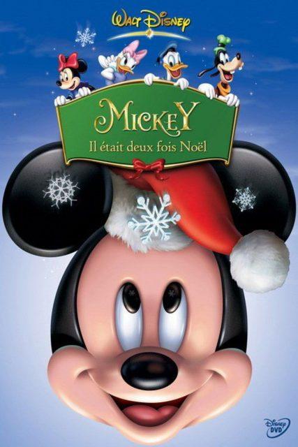 affiche poster mickey deux fois noel twice christmas disney