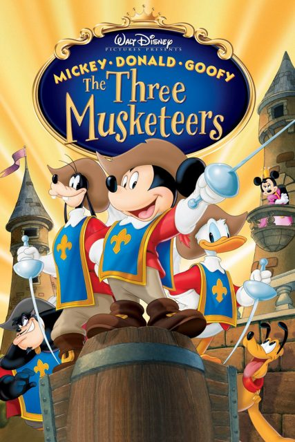 affiche poster Mickey Donald Goofy dingo trois mousquetaires Three Musketeers disney