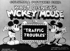 affiche mickey embouteillages walt disney animation studios poster traffic troubles