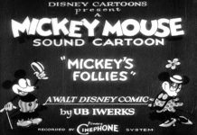 affiche mickey follies walt disney animation studios poster
