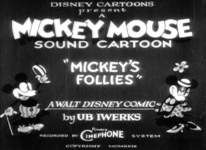 affiche mickey follies walt disney animation studios poster
