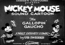 affiche mickey gaucho walt disney animation studios poster gallopin' gaucho